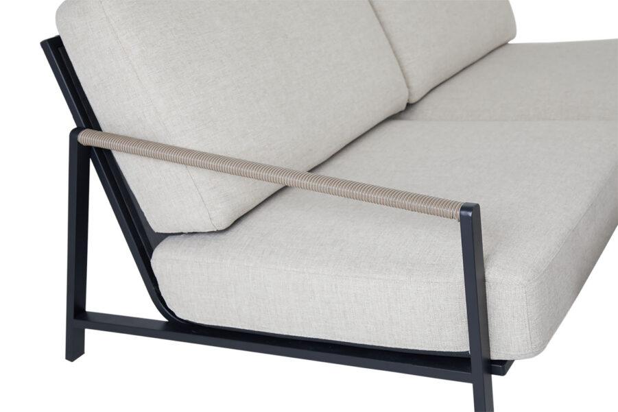 Brafab Lyra 2,5-sits soffa svart/sand
