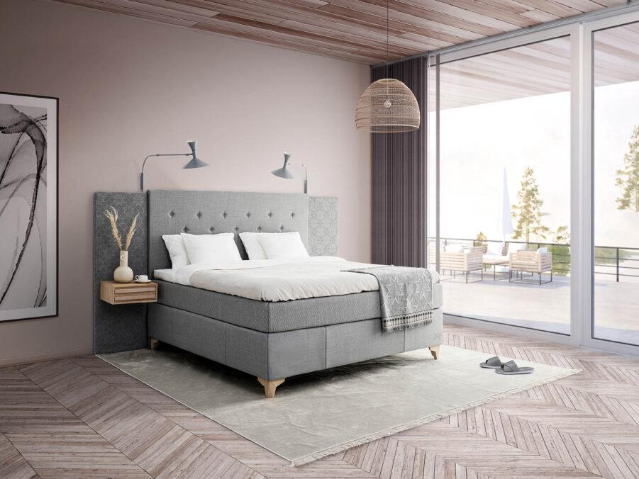 Miljöbild på Icon säng från Jensen.