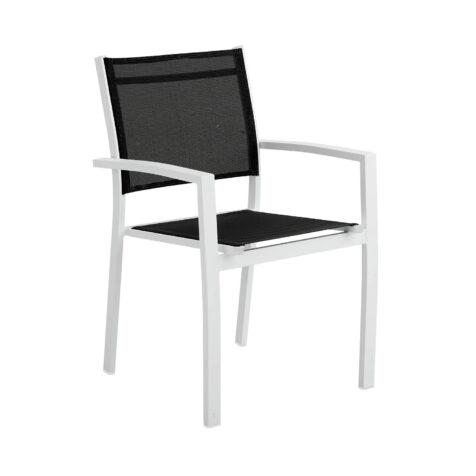 Brafab Rana karmstol vit/svart