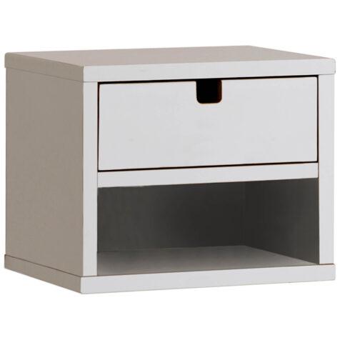 Kivik sängbord i vitt från Zebra COllection.