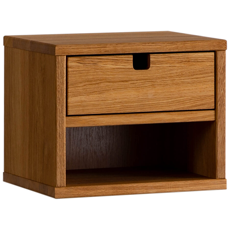 Kivik sängbord i loljad ek från Zebra Collection.