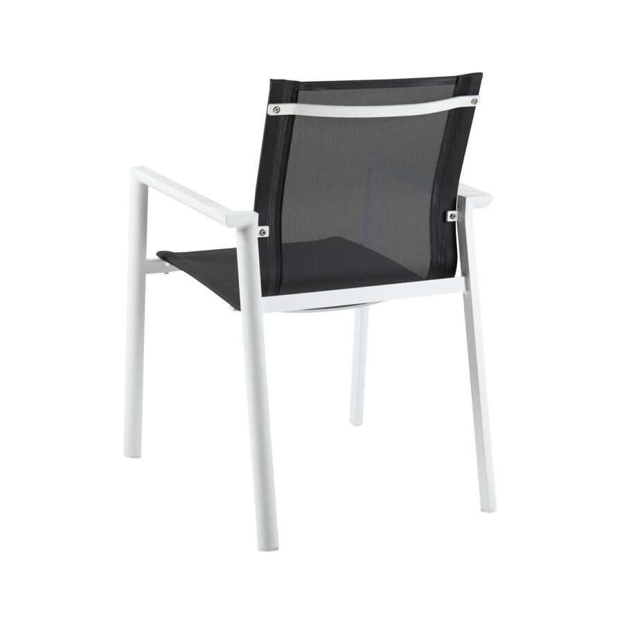 Brafab Delia karmstol vit/svart