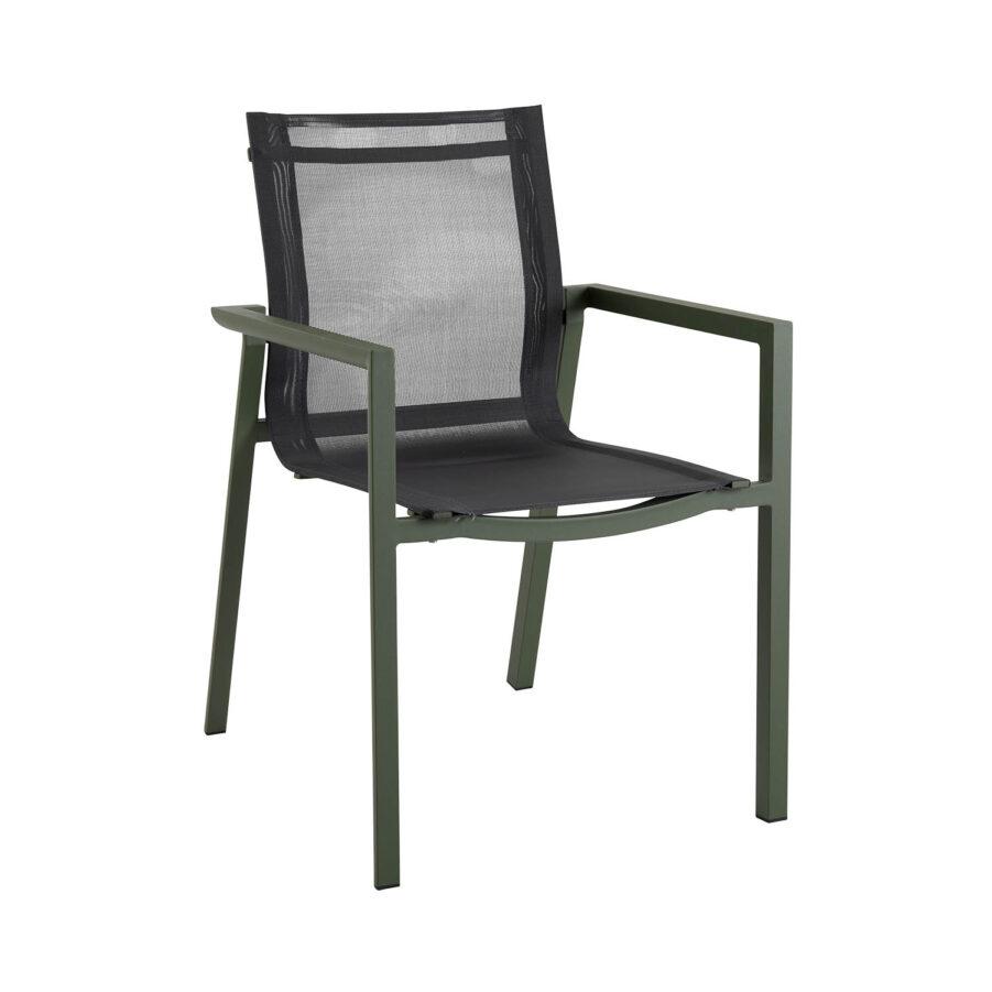 Brafab Delia karmstol grön/svart