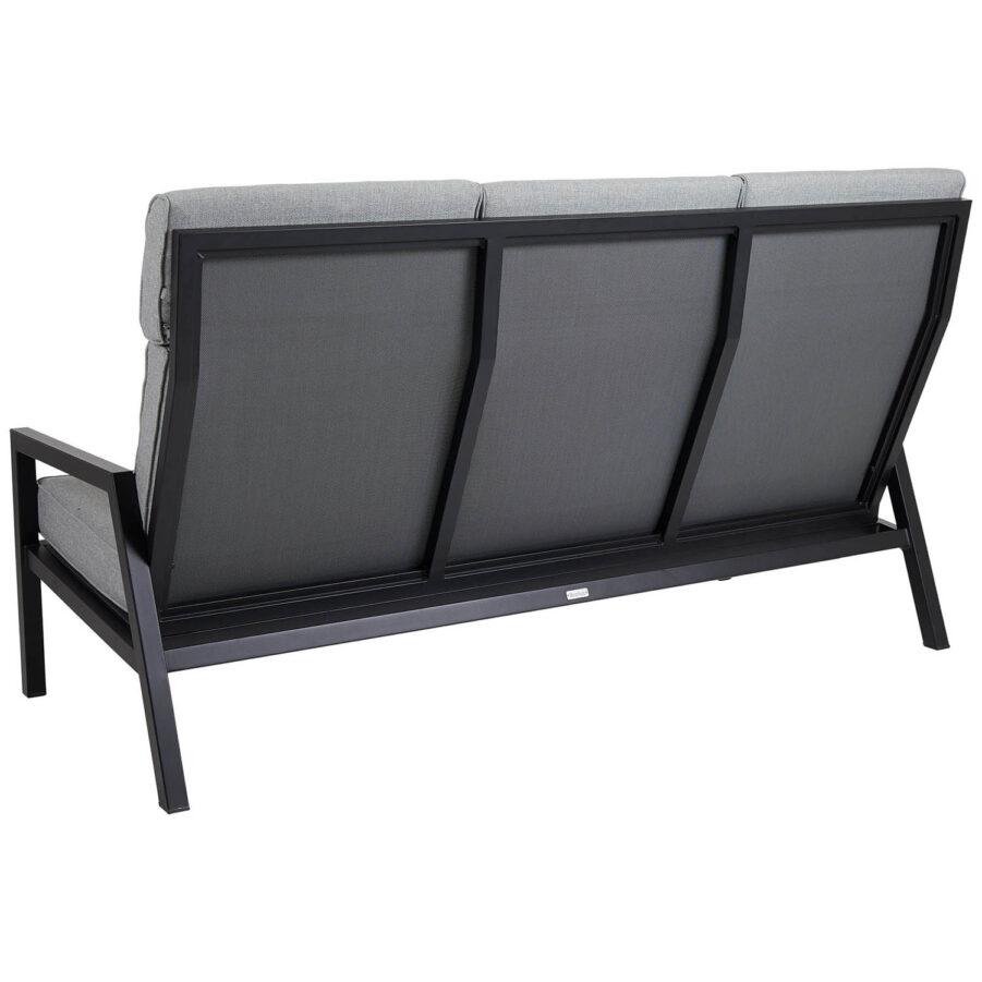 Brafab Belfort 3-sits soffa hög rygg svart/pärlgrå