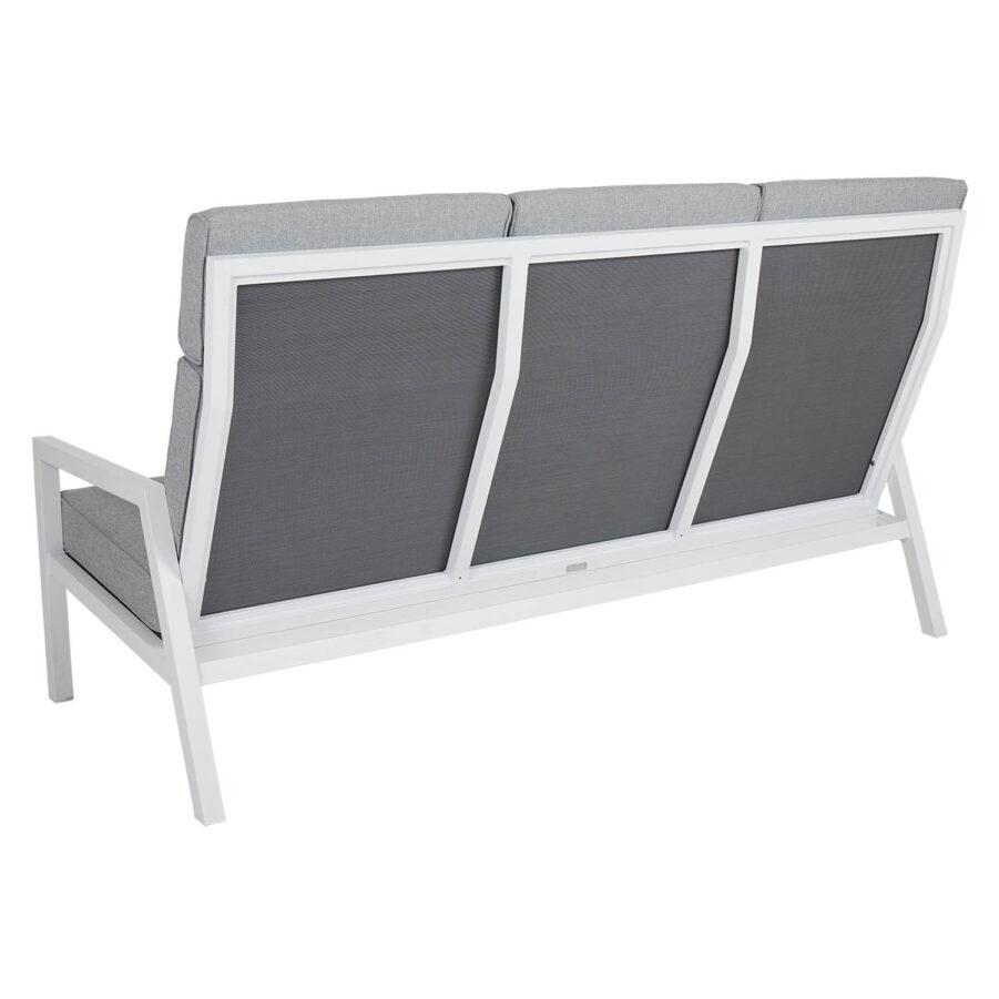 Belfort 3-sits soffa vit/pärlgrå hög rygg