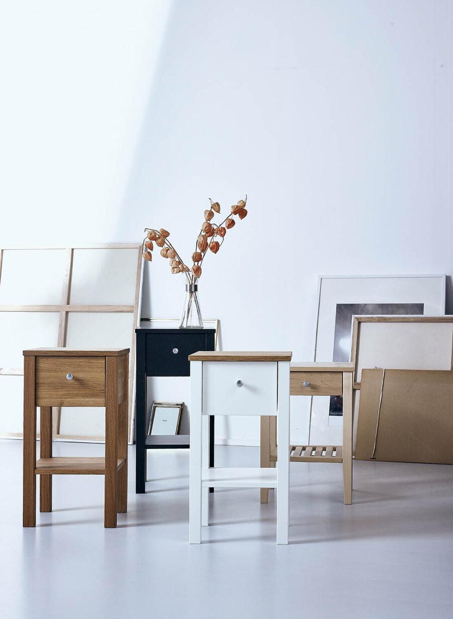 Miljöbild på sängbord från Zebra Collection.
