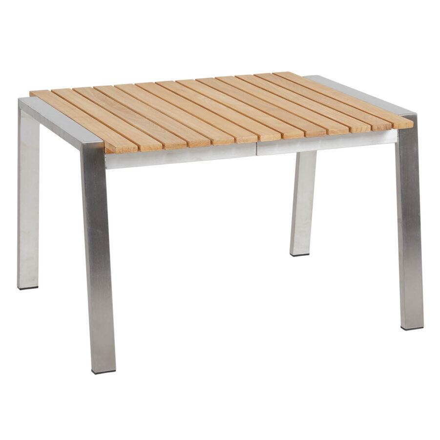Brafab Naos sidobord 60x60 cm rostfritt stål/teak