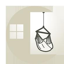 Universalfäste för alla typer av hängstolar