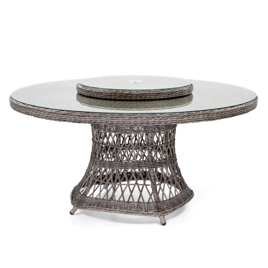 Hastings matbord 150 cm drivved med snurrskiva.