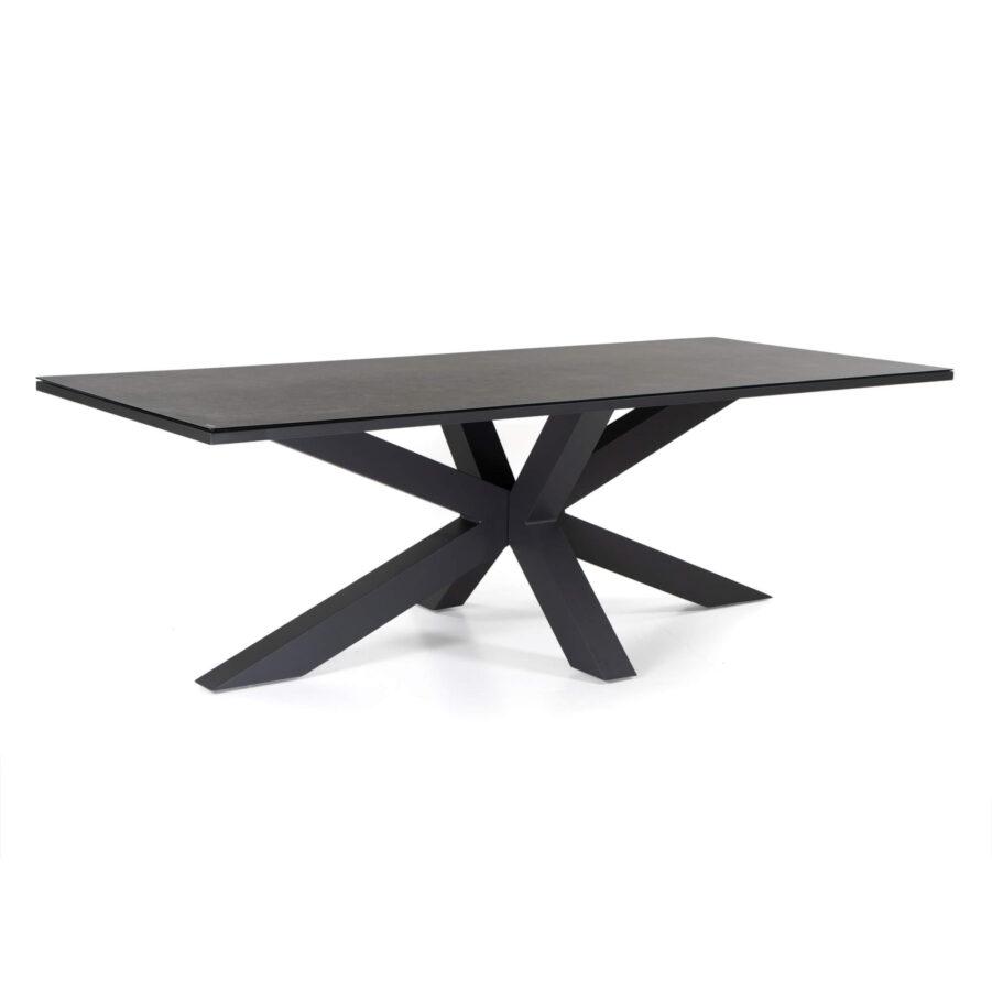 Star matbord 220x100 cm i antracitgrått.