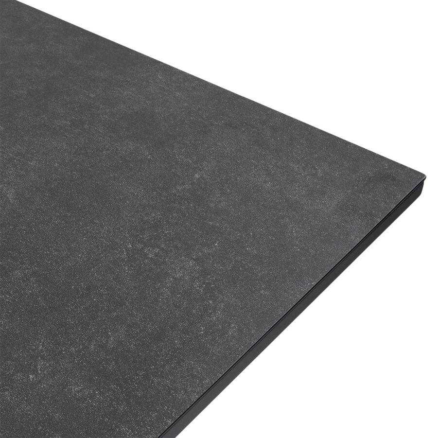 Detaljbild Star matbord 220x100 cm i antracitgrått.
