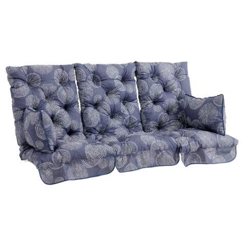 Brafab Softa hammockdynor hög rygg blå mönstrad