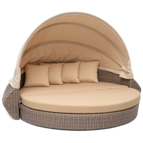 Callao loungesoffa i natur med beiga dynor.