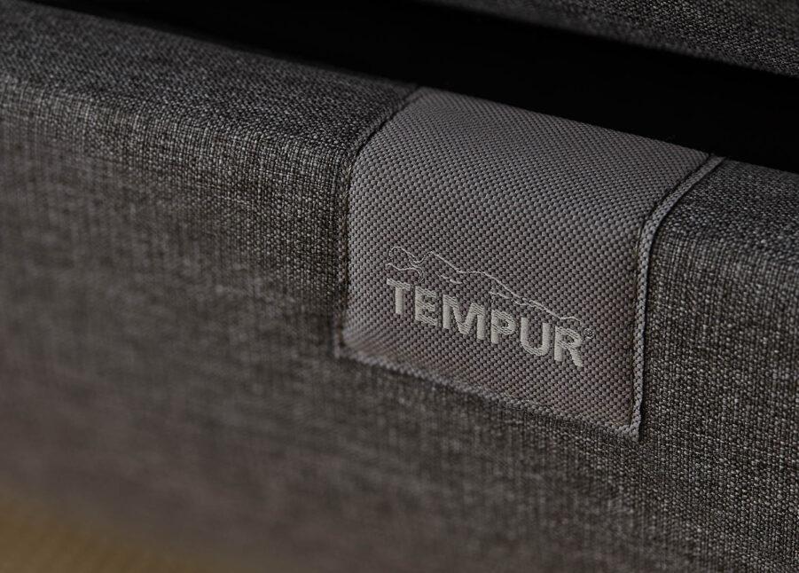 Detalj på Tempur North i mörkgrå.