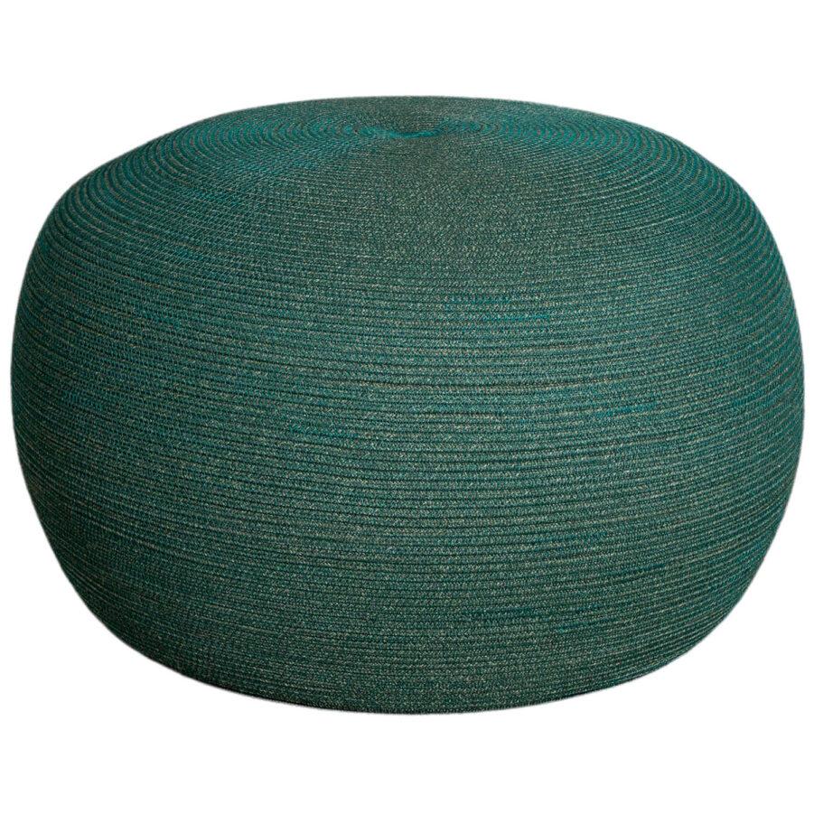 Circle sittpuff i mörkgrönt.