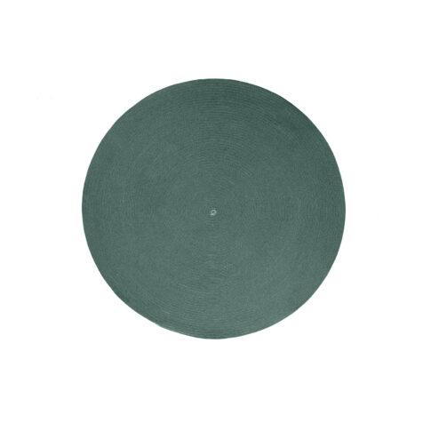 Circle utomhusmatta 140 cm i mörkgrönt.