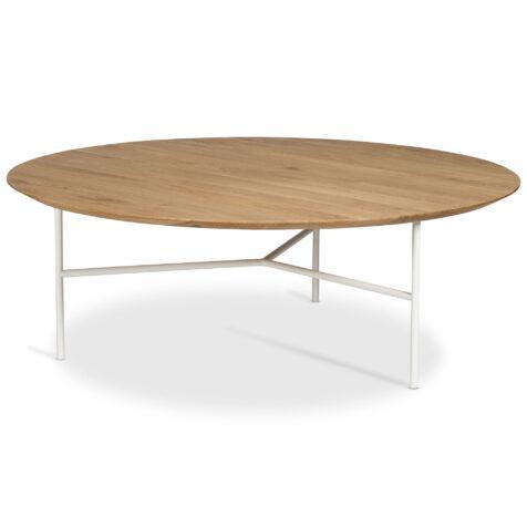 Tribeca soffbord i vitt och skiva i lackad ljus ek.