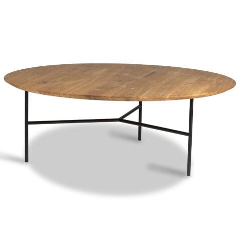 Tribeca soffbord med svart underrede och skiva i oljad ek.