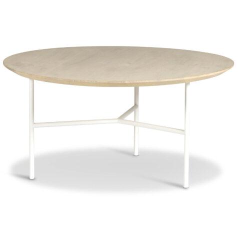 Tribeca soffbord i såpad ek med vitt stativ.