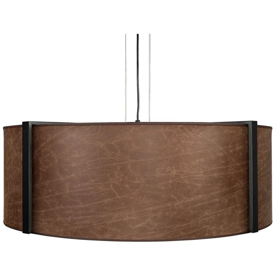 Artwood Calgary taklampa Ø82 cm brown leather