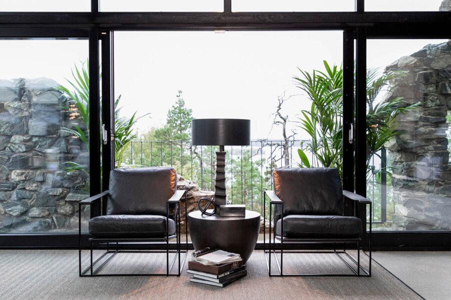 Artwood Artwood Bellagio fåtölj svart skinn