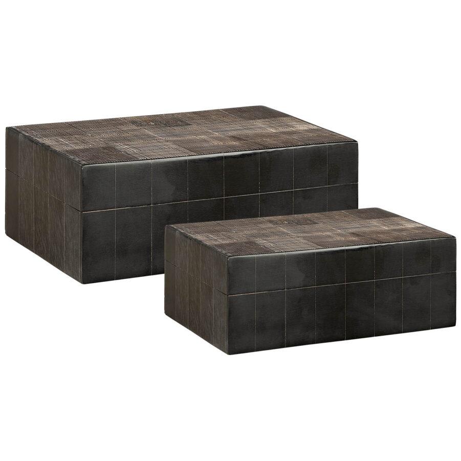 Artwood Avorio box 2-set svart/brun