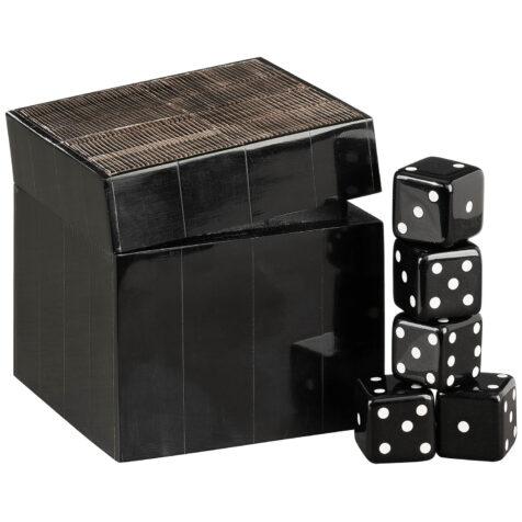 Artwood Avorio tärningsspel dekoration svart/brun
