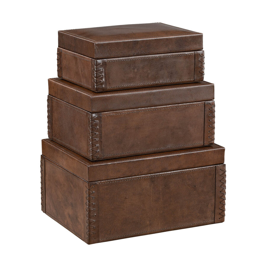 Artwood Mendoza box 3-set brown leather