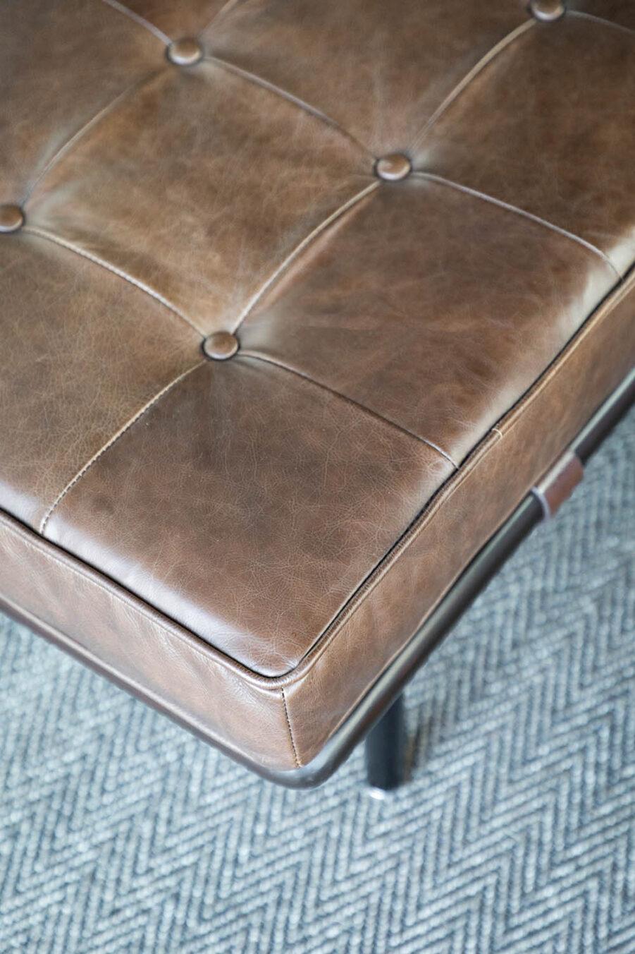 Artwood Princetown bänk chocolat brown leather