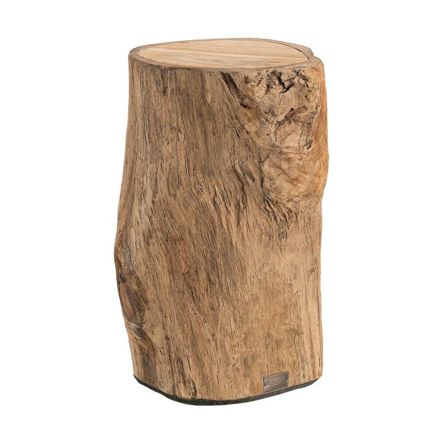 Artwood Colorado sidobord/pall natur teak 40 cm