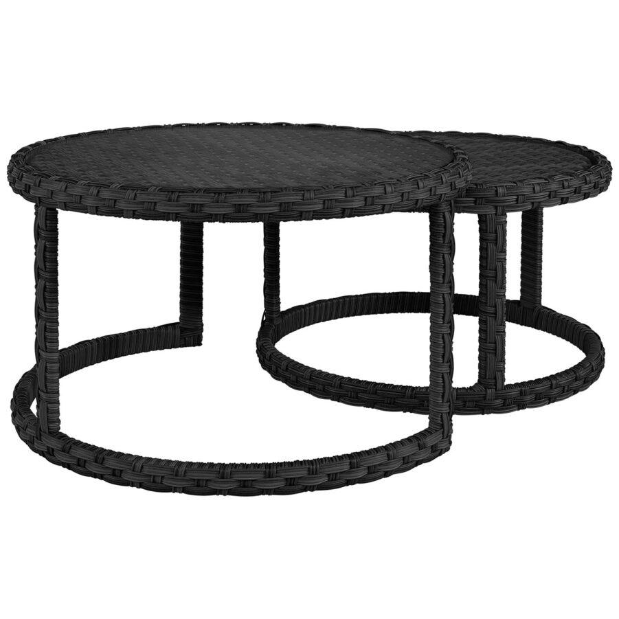 Artwood Toledo soffbord classic black 2-set