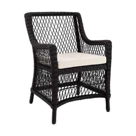 Artwood Marbella karmstol black twist inkl. sittdyna