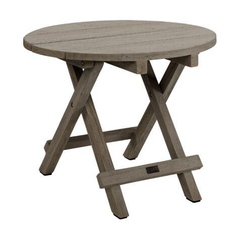 Artwood Vintage round sidobord charcoal teak Ø60 cm