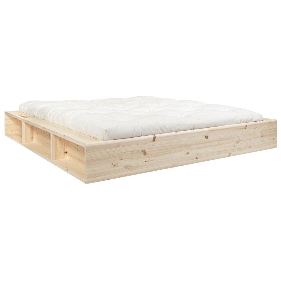 Ziggy sängram i furu med vit madrass.