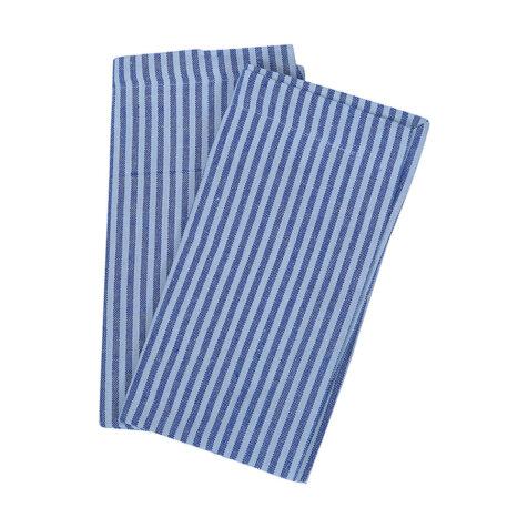 Stina servetter i blått.