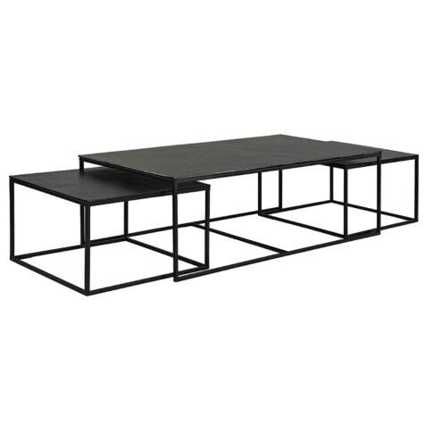 Artwood Mille soffbord 3-set svart