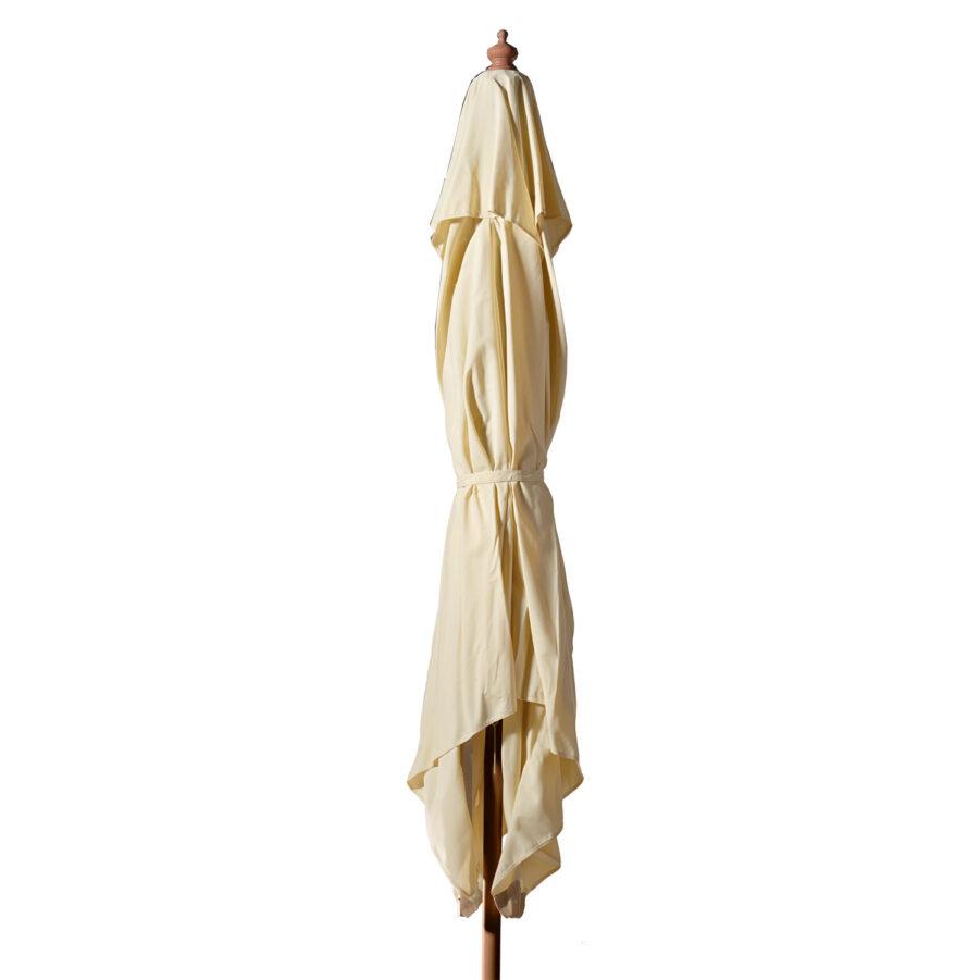 Lizzano parasoll offwhite/teak Ø400 cm
