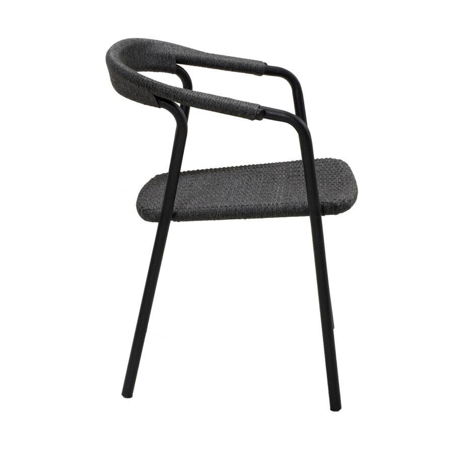 Noble karmstol i svart.