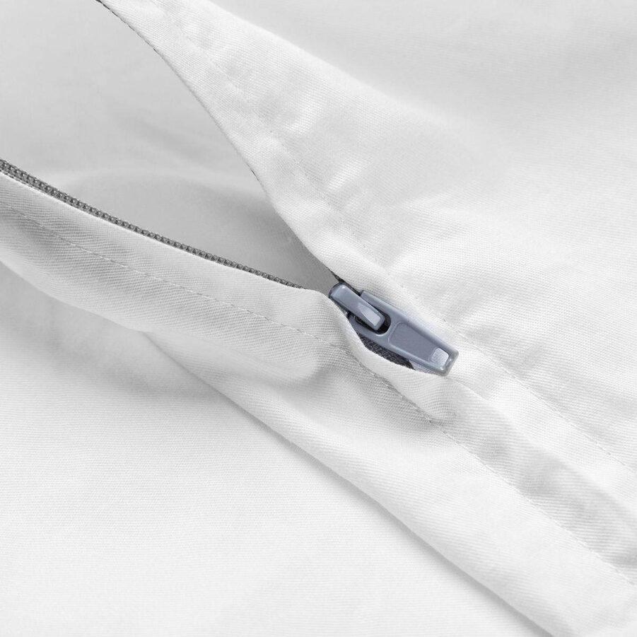 Beckasin fodral fäör tyngdtäcke i vit bomull.