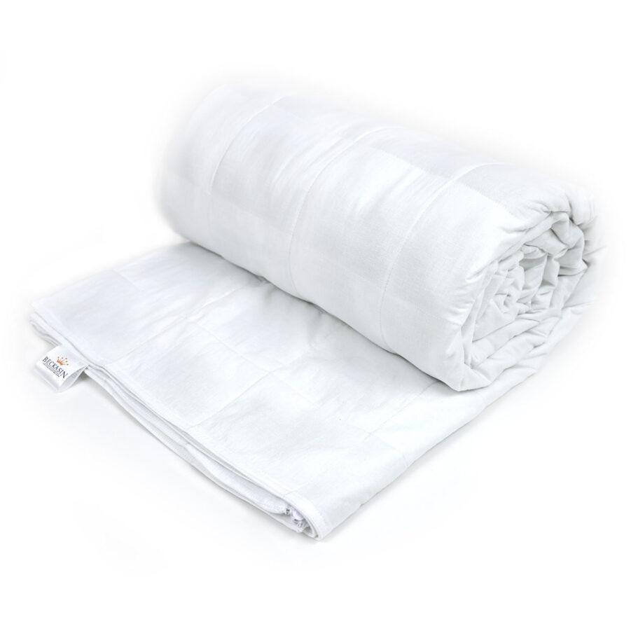 Beckasin King Size tyngdtäcke i vit bomull.