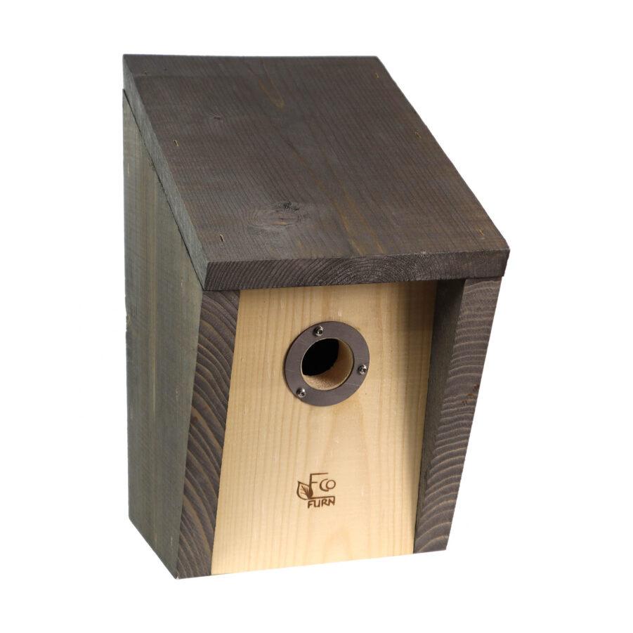 Bild på Pönttö fågelholk i grått från Eco Furn.