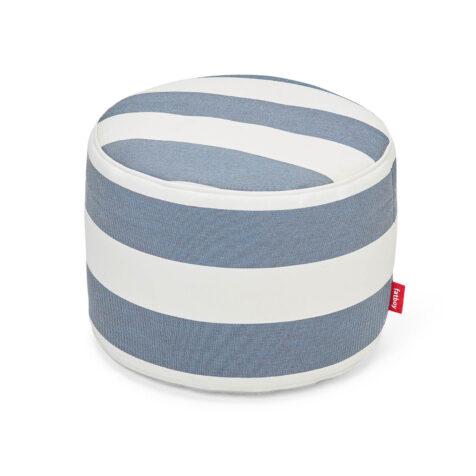 Fatboy Point outdoor sittpuff stripe ocean blue