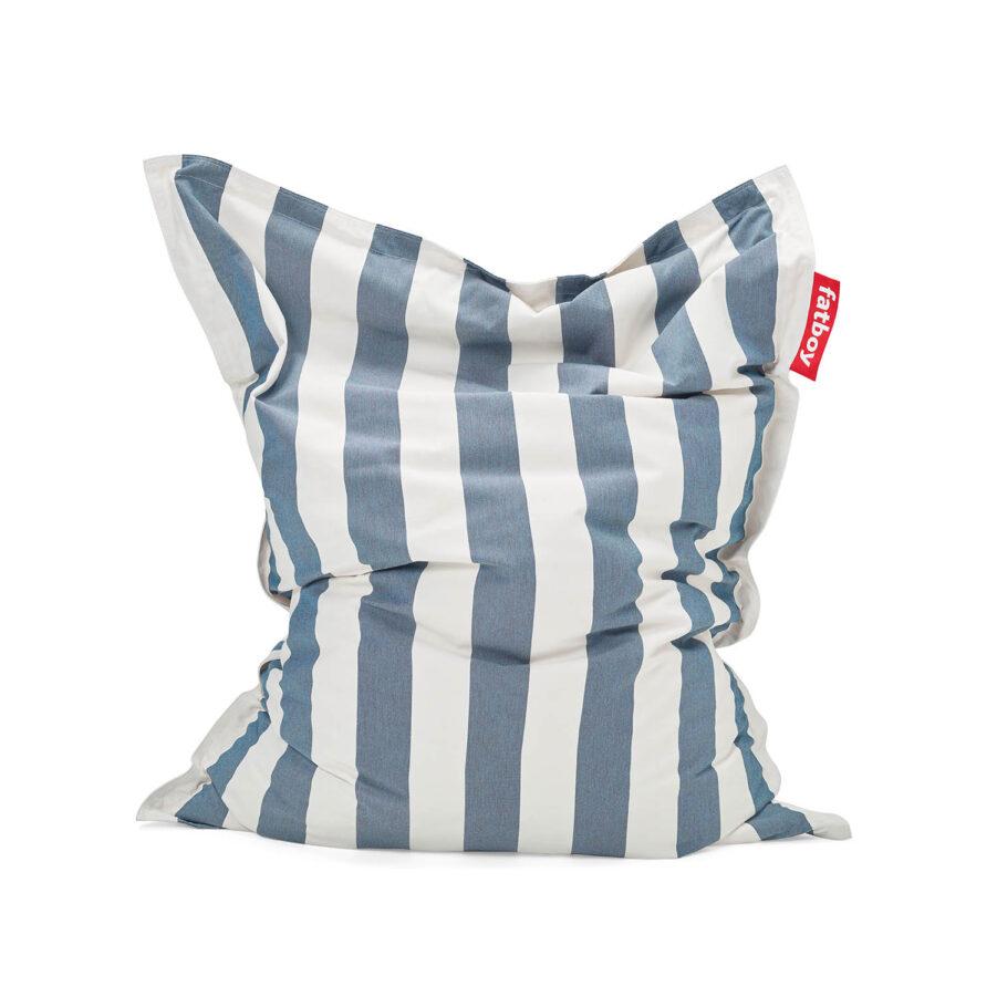 Fatboy Original Outdoor olefin stripe ocean blue