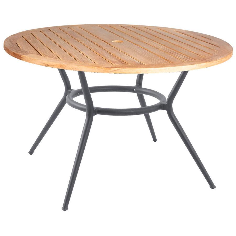 Joy matbord i ljusgrått med teakskiva.