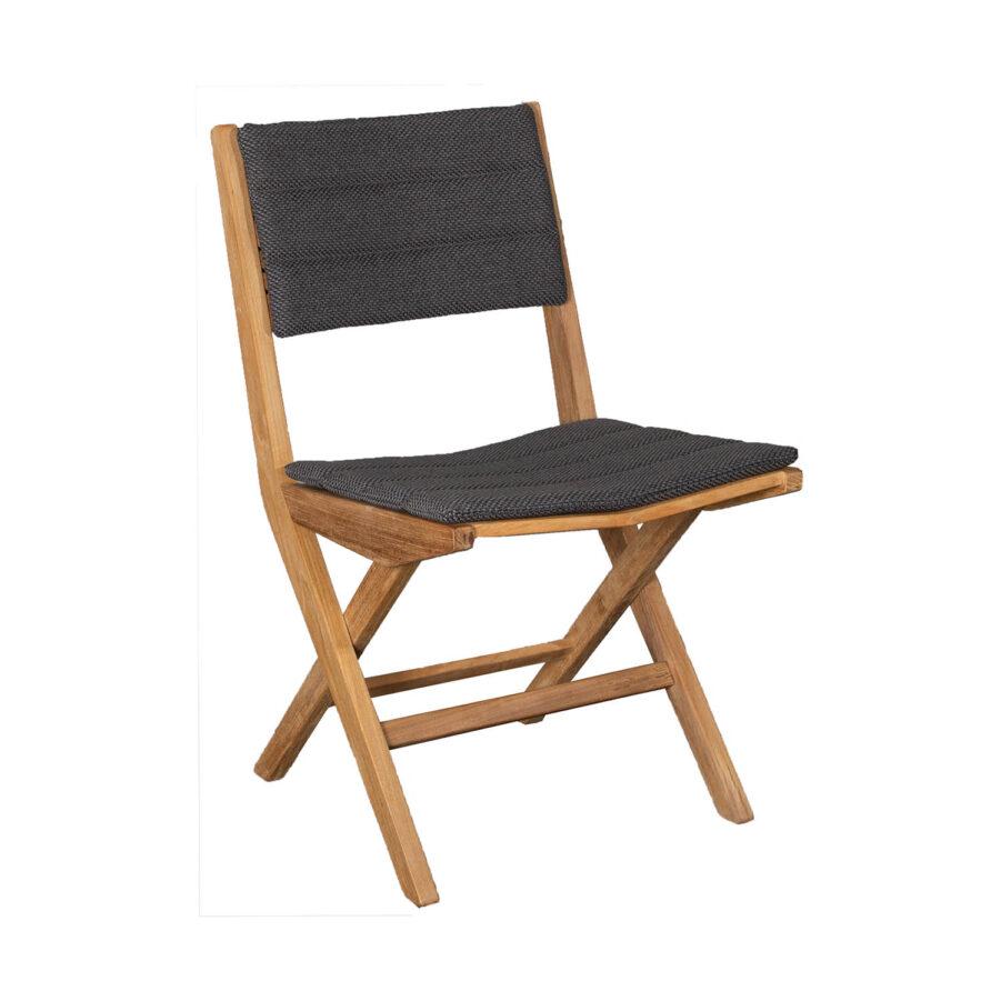 Bild på Flip matstol från Cane-Line i teak. med dyna.