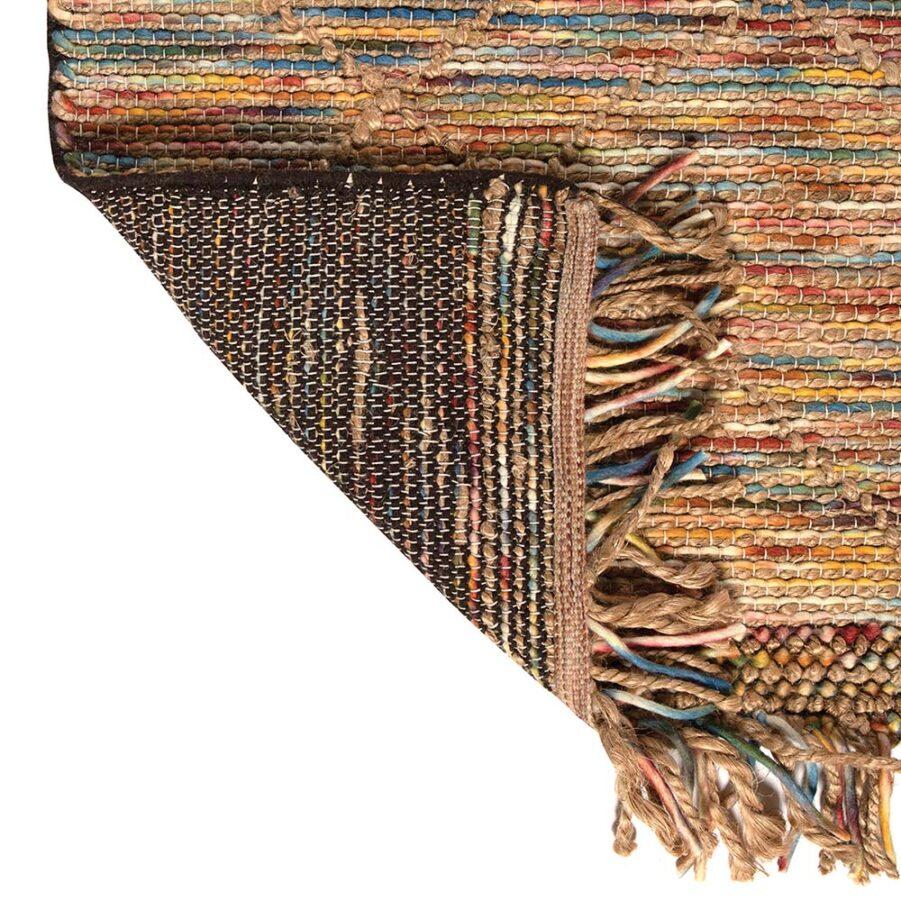 Närbild på Keanu matta från Vivaraise i multifärg.