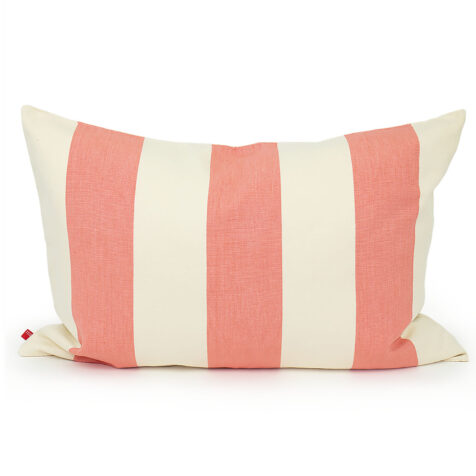 Fifi kuddfodral rosa och vit.