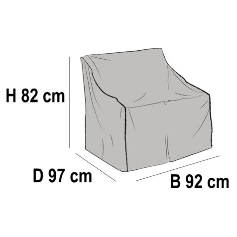 Brafab Möbelskydd för fåtöljer 92x97 cm höjd 82 cm