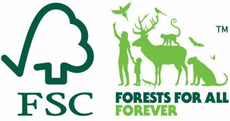 Logotyper för FSC-certifierat trä.