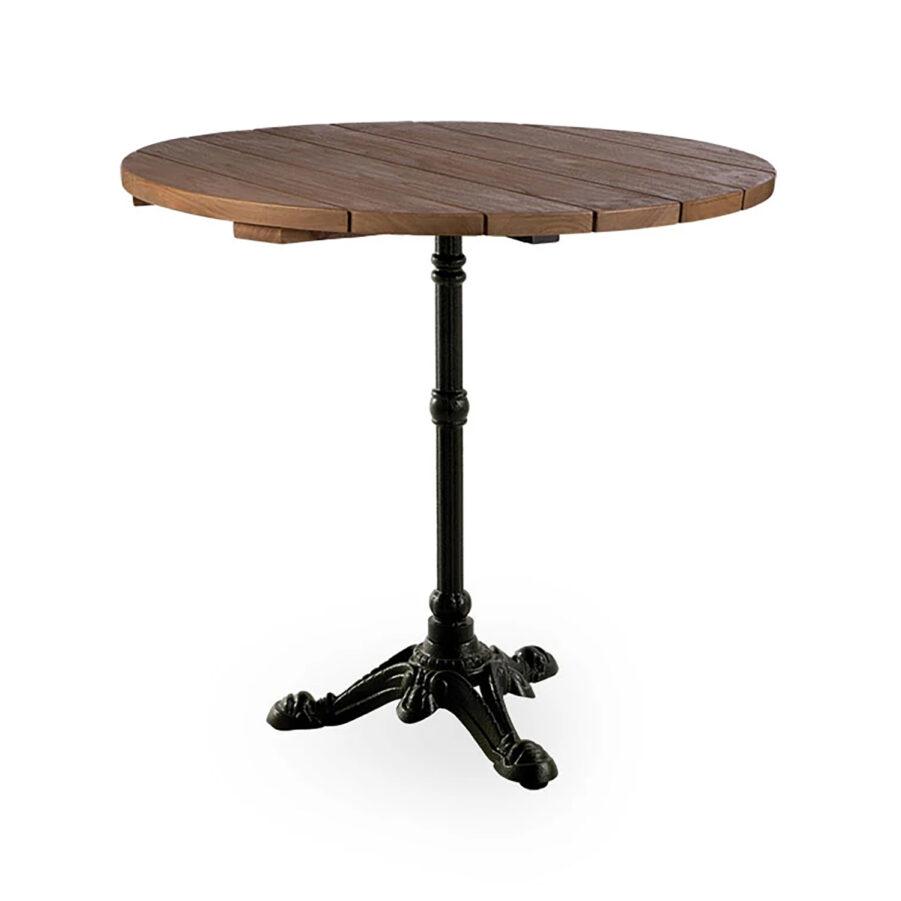 Sika-Design Lyon cafébord Ø80 cm svart/teak